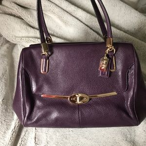 Classic coach leather handbag